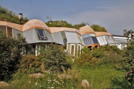 éco-village à Dyssekilde, Danemark