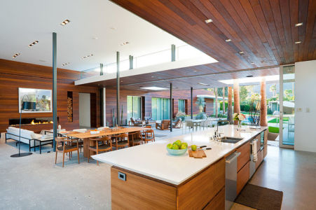 lot central cuisine - F-5 Residence par Studio AR+D Architects - Indian Wells, Usa