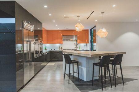 îlot central de cuisine - Angular-Lines par Amit Apel - Los Angeles, USA