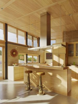 îlot central de cuisine - Caterpillar- House par Feldman Architecture - Californie, USA