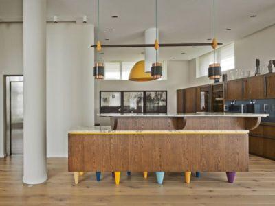 îlot central de cuisine - House of Piton par PANACOM Architect - Russie