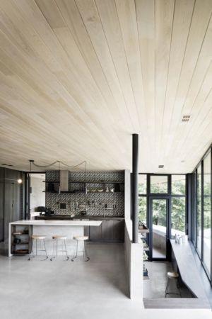 îlot central de cuisine - La-Heronniere par Alain Carle Architecte - Québec, Canada
