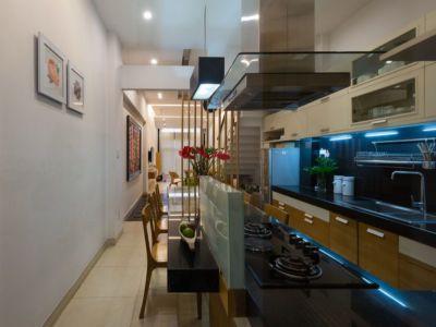 îlot central de cuisine - NA-House par NatureArch Studio - HO Chi Minh, Vietnam