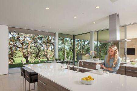 îlot central de cuisine - Vineyards-Residence par Swatt Miers Architects - Californie, USA