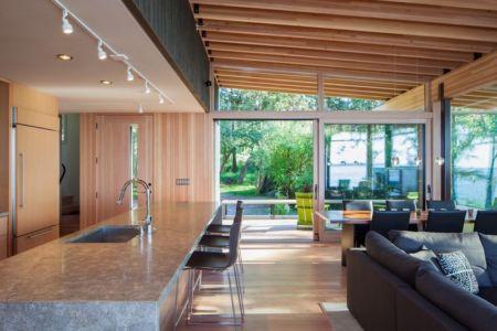 îlot central de cuisine - bunny-lane par Heliotrope-Architects - Washington, USA