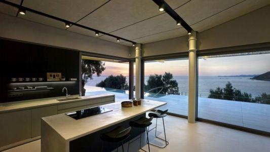 îlot central de cuisine & grande baie vitrée - résidence exclusive par Z-Level - île Kios, Grèce