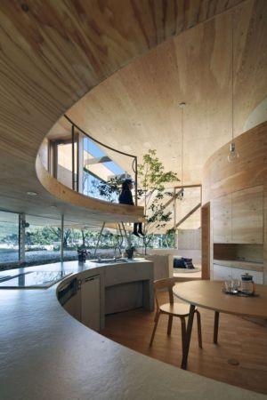 cuisine - pit-house par UID Architects - Okayama, Japon