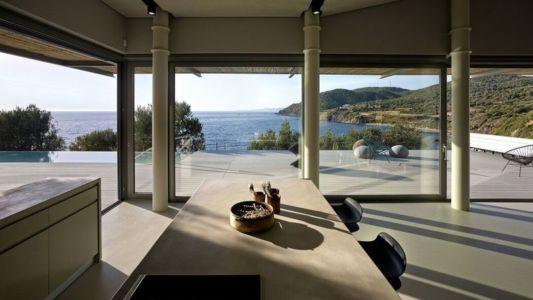 îlot central de cuisine - résidence exclusive par Z-Level - île Kios, Grèce