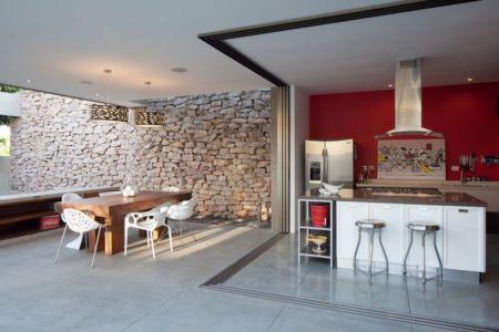 cuisine & séjour - Garden-House par Cincopatasalgato - El Salvador