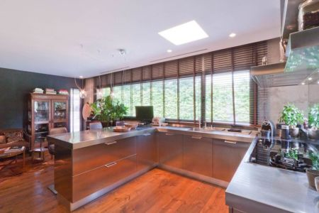 îlot central de cuisine - villa-madrid par Modern Homes - Madrid, Espagne