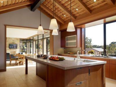 lot cuisine - Mountain Wood Residence par Walker Warner Architects -Woodside, Usa