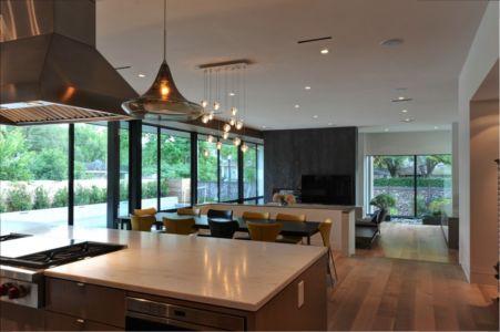 lot cuisine et séjour - Underwood House par StudioMET - Houston, Usa