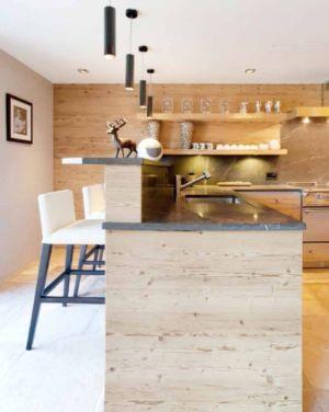 îlot central de cuisine - Rougemont-Residences Plusdesign - Rougemont, Suisse