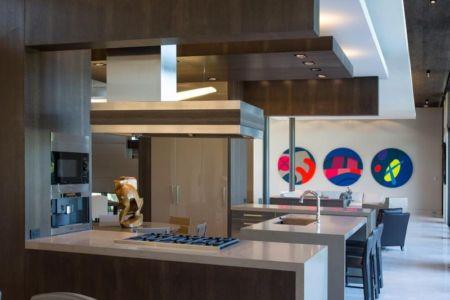 îlot Central De Cuisine & Cuisine - Ballantrae Court Par Kz Architecture - Floride, USA