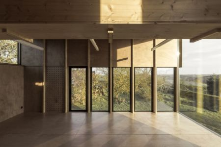 étage et charpente - Cliffs Impasse par ZIEGLER Antonin architecte - Senneville-sur-Fécamp, France