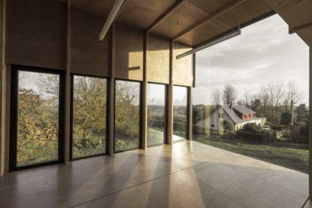 étage vitrée nu - Cliffs Impasse par ZIEGLER Antonin architecte - Senneville-sur-Fécamp, France