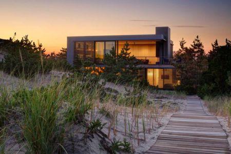 accès à la mer - Shore House par Stelle Lomont Rouhani Architects -  Amagansett, Usa