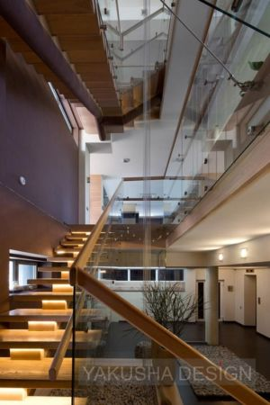 accès étages escalier - House «Ecominimalizm». par Yakusha Design - Dnipropetrovsk, Ukraine