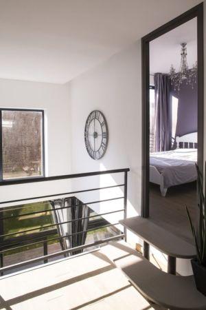 accès chambre mezzanine - Maisons jumelées par MAG architectes - France - photo Stéphano Candito