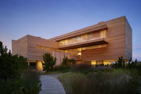 accès entrée - Ocean Deck House par Stelle Lomont Rouhani Architects - Bridgehampton, USA