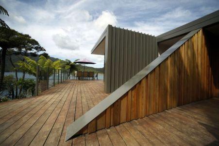 accès entrée - Porotu Bach par studio MWA - Miritu Bay, New Zealand