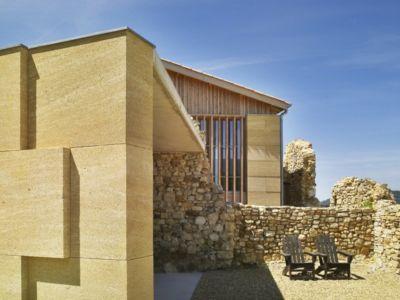 accès entrée - Stone house par Carl Fredrik Svenstedt architecte - Vallée du Luberon, France