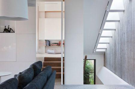 accès escaliers - Maison contemporaine bois béton par BG Architecture - Melbourne, Australie