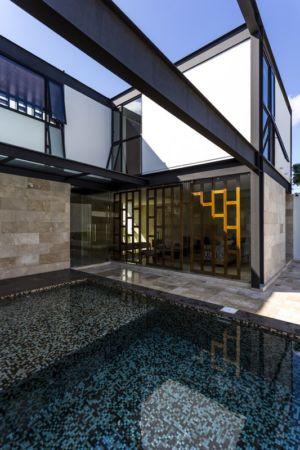 accès jardin - Montebello 321 par Jorge Bolio Arquitectura - Merida, Mexique