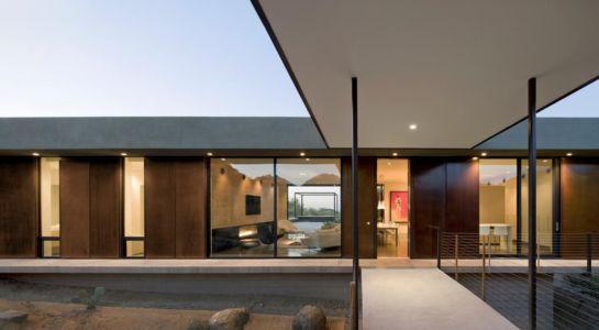 accès maison - Levin Residence par Ibarra Rosano Design Architects - Marana, Usa