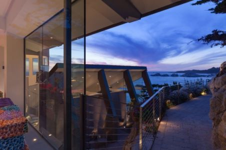 accès mer - Carmel Highlands Residence par Eric Miller Architects - Carmel-By-The-Sea, Usa