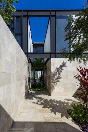 accès patio - Montebello 321 par Jorge Bolio Arquitectura - Merida, Mexique