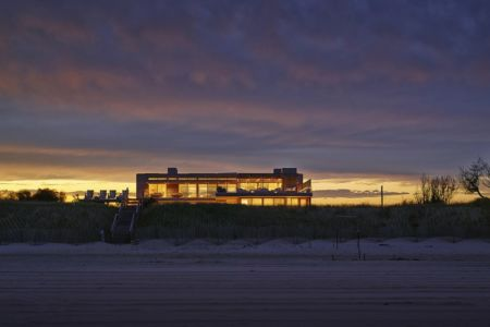 accès plage - Ocean Deck House par Stelle Lomont Rouhani Architects - Bridgehampton, USA