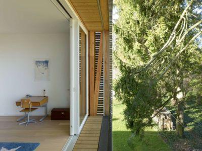 accès porte vitrée étage - during-tannay par Christian Von During Architects - Tannay, Suisse
