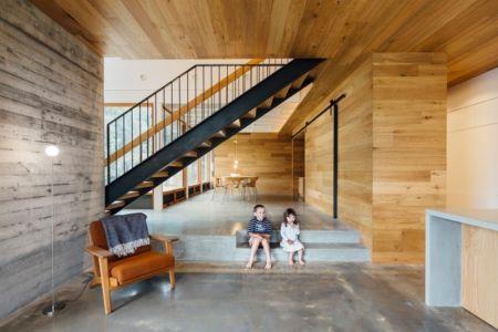 accès salle à manger & escalier étage - Invermar House par Moloney Architects - Ballarat, Australie
