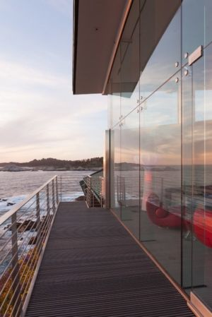 allée côté - Carmel Highlands Residence par Eric Miller Architects - Carmel-By-The-Sea, Usa
