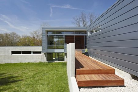 allée d'entrée - Riverview House  Studio Dwell Architects -  Wayne, Usa