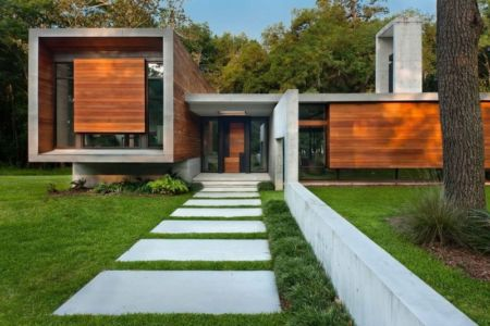 allée entrée - Bray's Island SC Modern II par SBCH Architects - Sheldon, Usa
