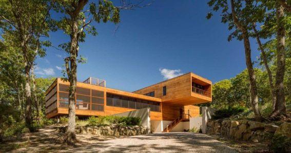allée entrée - Hamptons Home In The Woods par Rangr Studio - Southampton, New York, Usa
