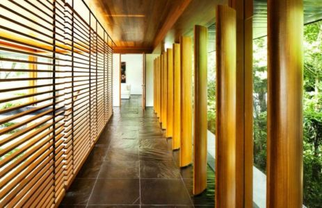 allée extérieure - Water Lily House par Guz Architects - Singapour