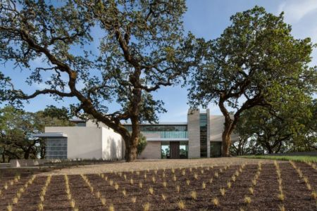 aménagement façade jardin - Vineyards-Residence par Swatt Miers Architects - Californie, USA