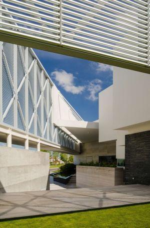 architecture de l'entrée - JRB House par Reims Arquitectura - Santa Domingo, Mexique
