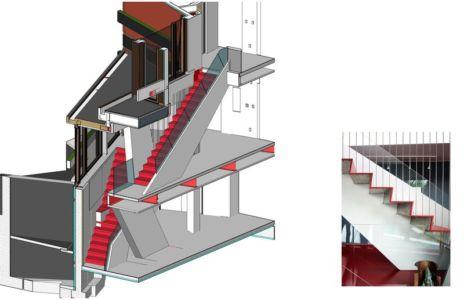 architecture escalier - Sayres House and Hanging Gardens par Maziar Behrooz Architecture - East Hampton, Usa