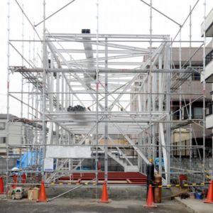 armatures poutrelles préfabriqués - Boundary House par Niji Architects - Tokyo, Japon
