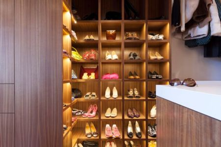 armoire chaussures - Vidalakis-Residence par Swatt Miers Architects - Californie, USA