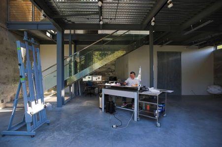 atelier - Anthrazit House par Architects Magnus - Santa Barbara, Usa