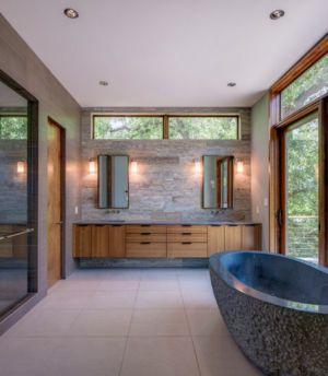 bagnoire salle de bains - 1980-Home par Dick Clark + Associates - Austin, USA
