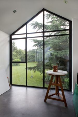 baie vitrée - Rénovation Maison V - Olivier Chabaud Architecte - Villennes - France