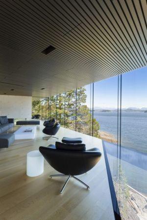 baie vitrée - Tula House par Patkau Architects - Quadra Island, Canada