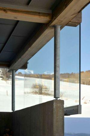 baie vitrée épaisse - Cozy-Wooden-Cottage par JVA - Oppdal, Norvège