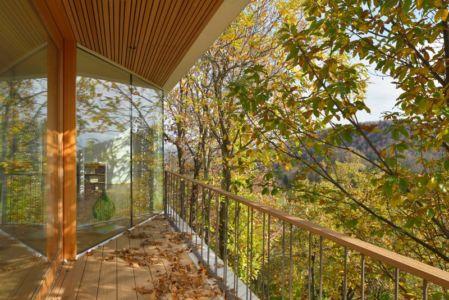 baie vitrée coulissante étage - Hillside-Home par Multiplan Arhiteki - Ljubljana,Slovénie